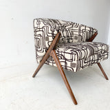 Mid Century Modern Karpen Style Lounge Chair with New Upholstery