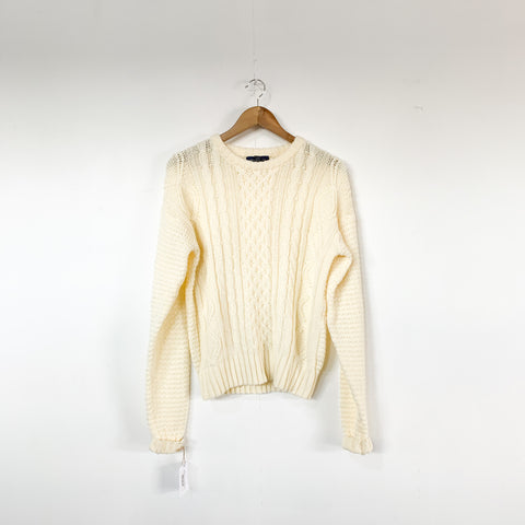 Vintage Cable Knit Sweater - M/L
