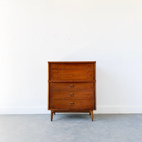 Mid Century Modern Johnson Carper Highboy Dresser