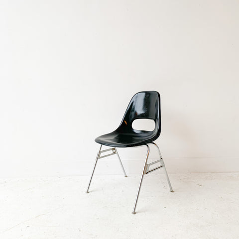 Vintage Black Shell Chair