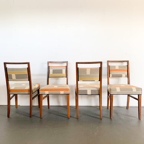 Set of 4 Mid Century Chairs Newly Reupholstered