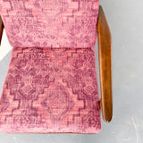 "Mid Century Modern Lounge Chair with New ""Bohemian"" Style Fabric"