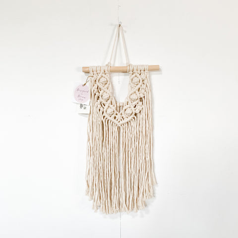 Handmade Macrame Small Wall Hanging - Natural