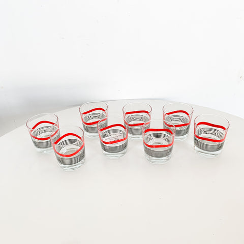 Set Of 8 Graphic Low Balls