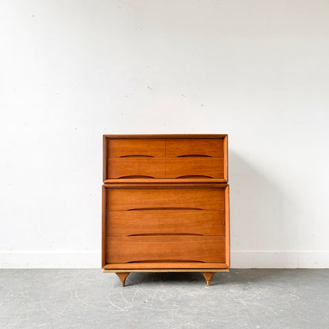 Mid Century Modern Highboy Dresser by Kent Coffey