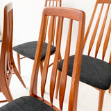 Set of 6 Mid Century Koefoed Hornslet Eva Dining Chairs - New Upholstery