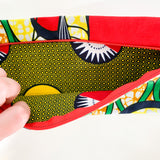P5 Zippered Pouch. Ankara Fabric.