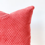 Textured Red Pillow