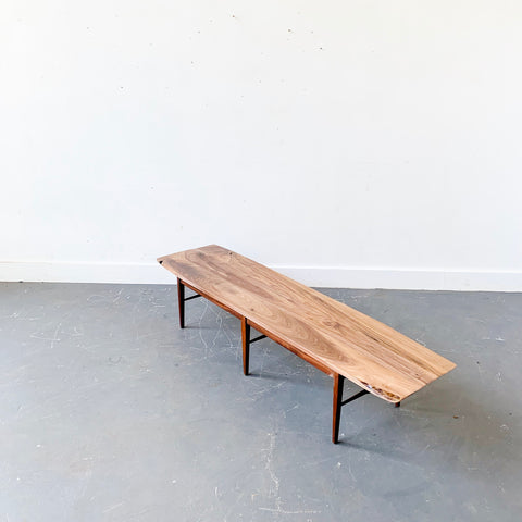 Black Walnut Coffee Table with Vintage Walnut Base