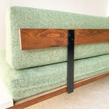 Mid Century Platform Sofa with Floating End Tables