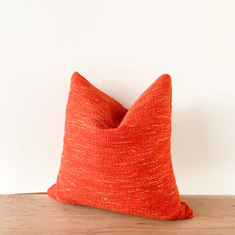 Orange/Red Tweed Pillow