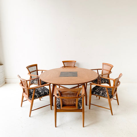 Mid Century Modern Gaming Table with 6 Chairs - Copenhagen by Morganton
