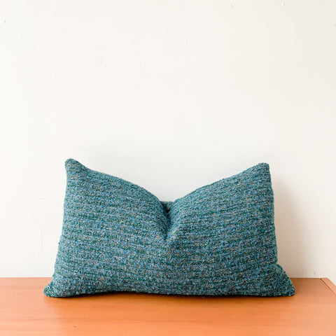 Nubby Teal Lumbar Pillow