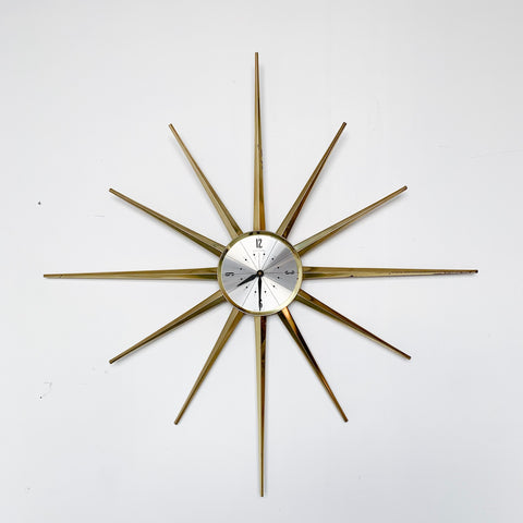 Vintage Brass Clock by Waltham