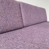 Mid Century Modern Sofa with Purple Upholstery