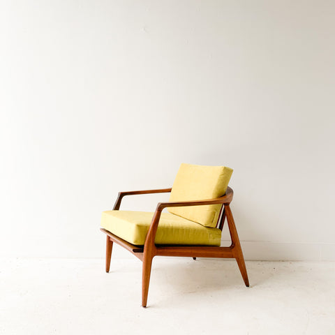 Milo Baughman with New Chartreuse Upholstery