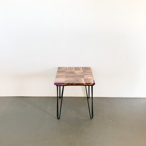 Walnut Mosaic End Table