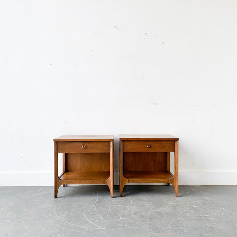 Pair of Mid Century Modern Broyhill Brasilia Nightstands