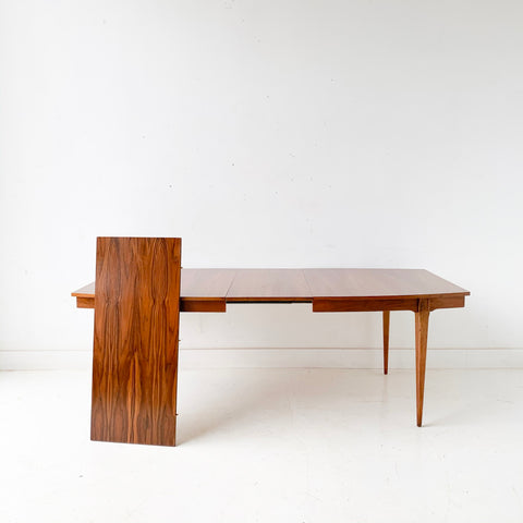 Mid Century Modern Walnut Dining Table with 2 Leaves