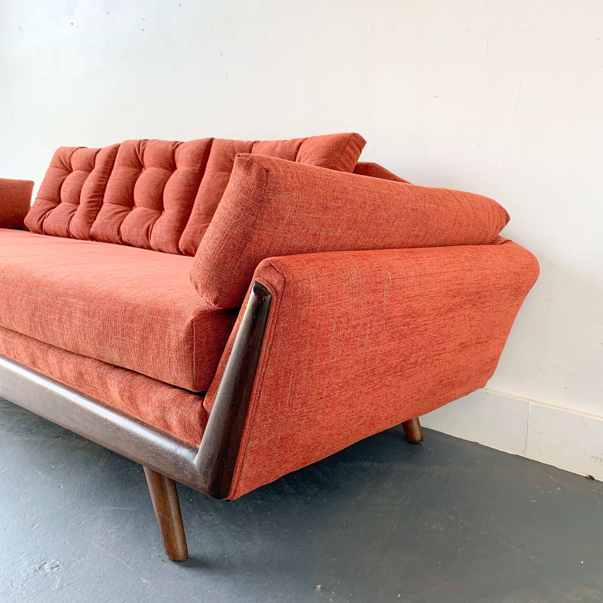 Mid Century Modern Gondola Sofa with New Upholstery