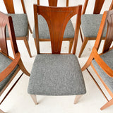 Set of 6 Mid Century Modern Dining Chairs with New Upholstery