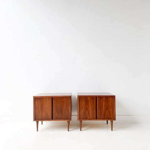 Pair of Mid Century Modern Walnut Nightstands