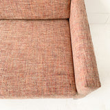 Mid Century Sofa with New Tweed Upholstery