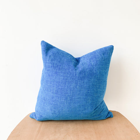 Electric Blue Pillow