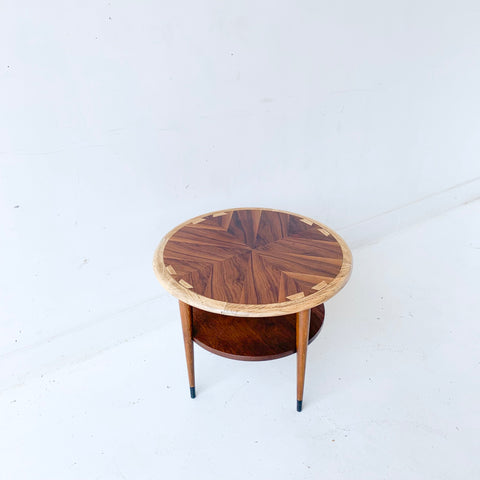 Mid Century Modern Round End Table by Lane