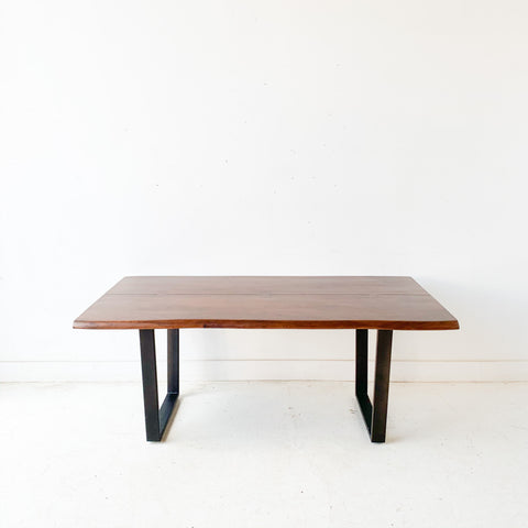 Modern Walnut Live Edge Dining Table