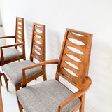 Set of 6 Mid Century Dining Chairs with New Upholstery