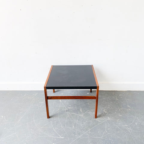 Mid Century Black Walnut Side Table