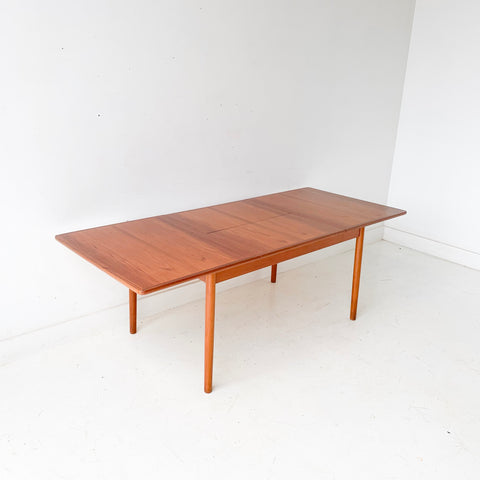 Mid Century Danish Teak Dining Tables with a Butterfly Leaf