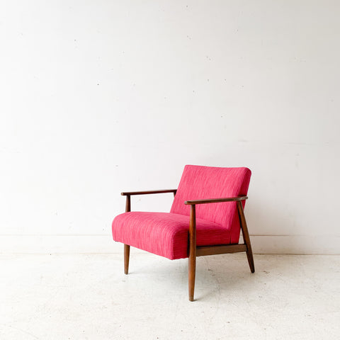 Mid Century Fuchsia Lounge Chair
