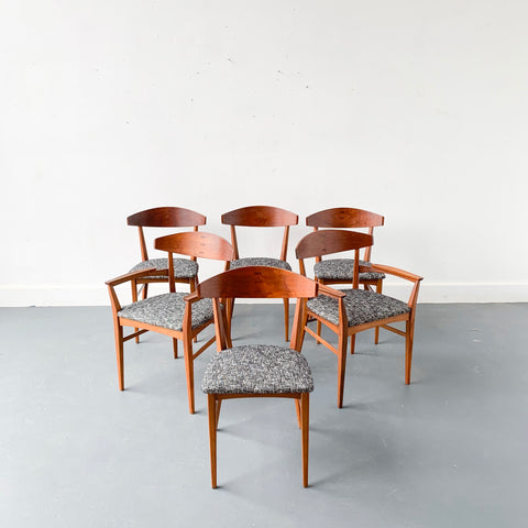Mid Century Modern Set of 6 Dining Chairs by Paul McCobb for Lane