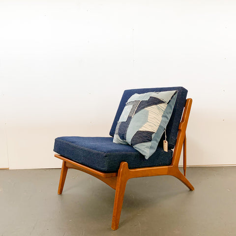 Mid Century Denim Chair