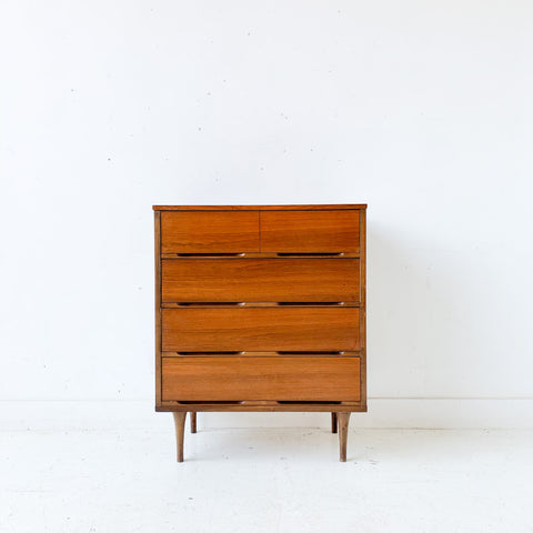 Mid Century Modern Highboy Dresser on Tapered Legs