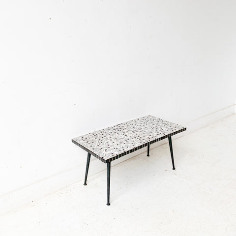 Mid Century Modern Tile Top Coffee Table
