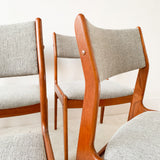 Set of 6 Teak Dining Chairs with New Upholstery