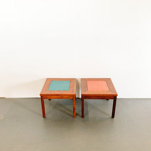 Pair of John Keal for Brown Saltman End Tables