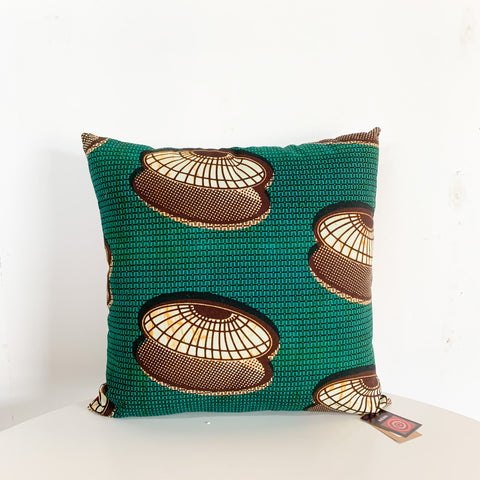 "J2 20"" African Fabric Throw Pillow"