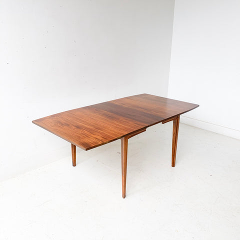 Mid Century Modern Walnut Drop Leaf Table with 1 Leaf