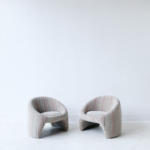 Pair of Space Age Low Lounge Chairs