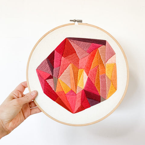 Large Geometric Embroidery