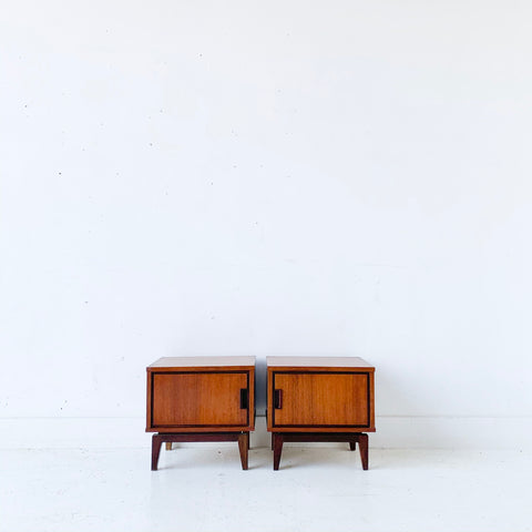 Pair of Mid Century Modern Petite Nightstands