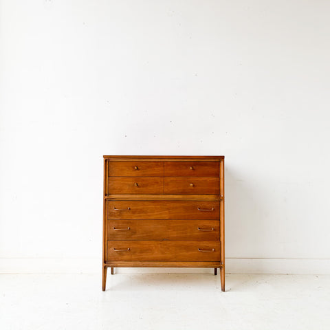 Mid Century Modern Broyhill Forward Highboy Dresser