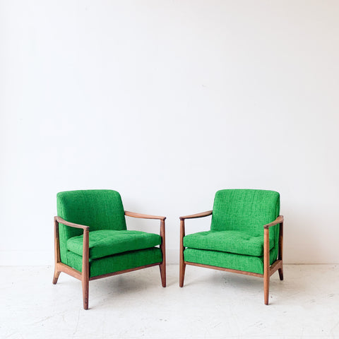 Pair of Drexel Lounge Chairs with New Upholstery