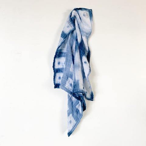 Hand Dyed Cotton Gauze Bandana 22x22 - 02