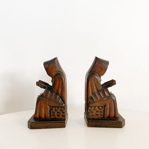 Vintage Monk Bookends