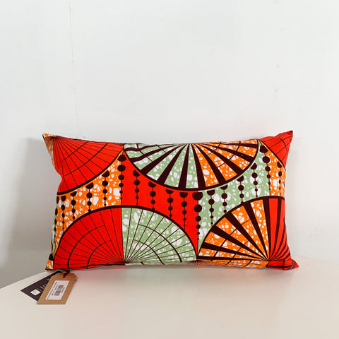 R5 African Fabric Throw Pillow